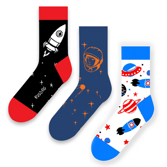 Носки Friday Socks 'Космос', набор 3 пары