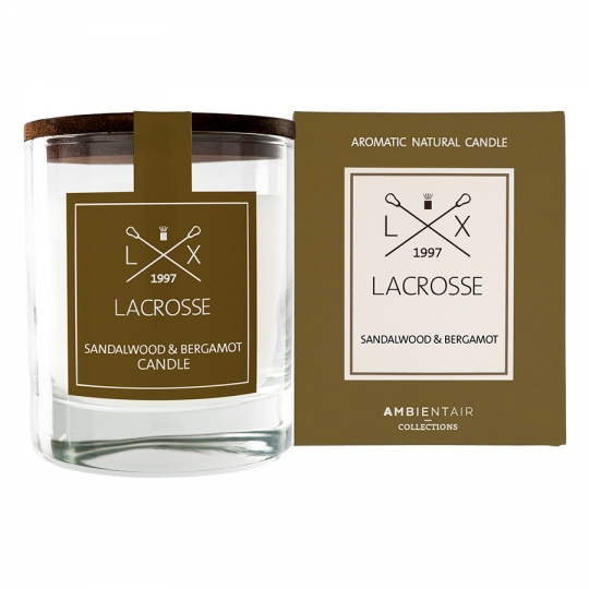 Свеча ароматическая 'Lacrosse Round'  / Sandalwood and Bergamot