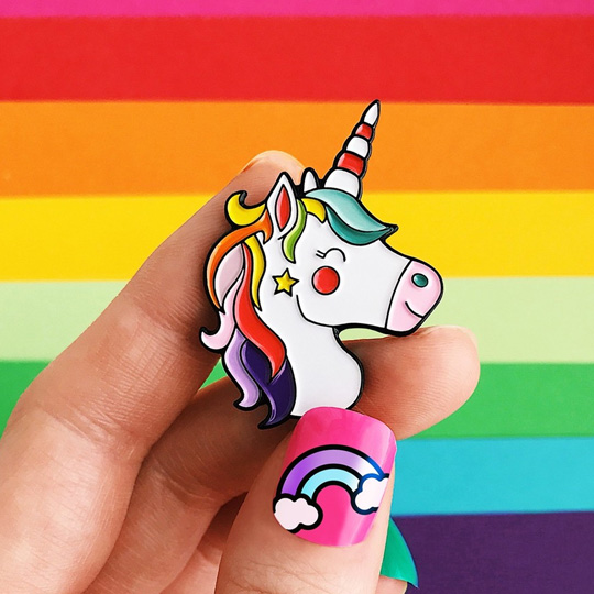 Значок 'Happy Rainbow Unicorn'